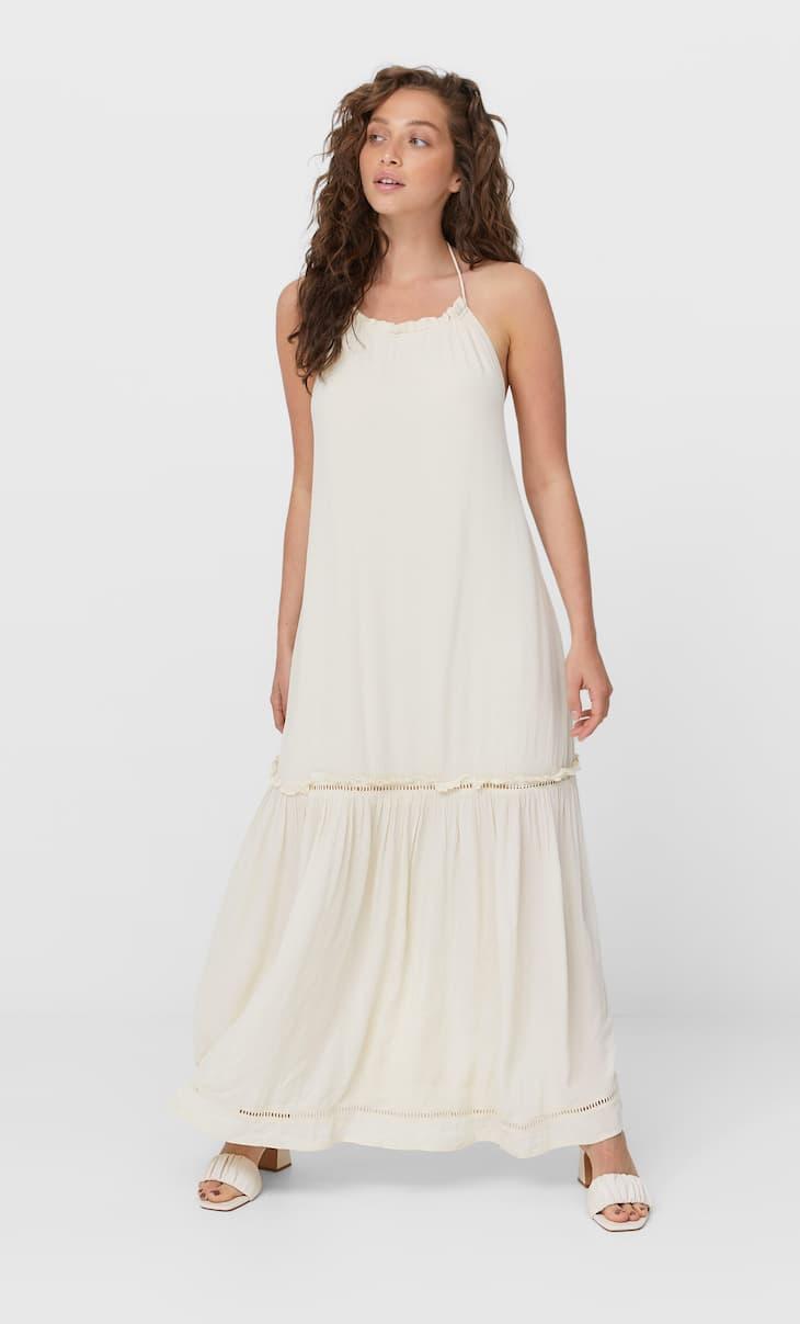 Open-back long dress
