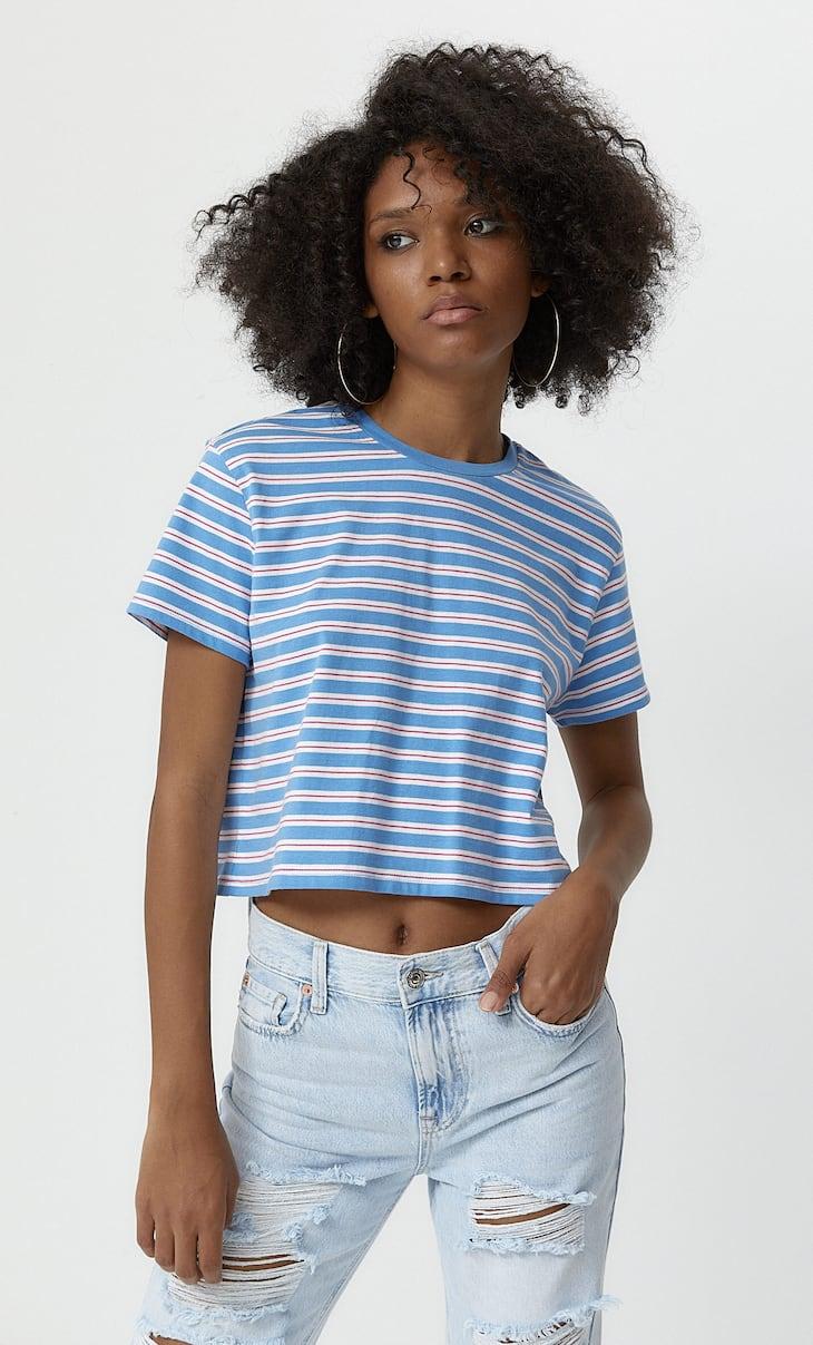 Camiseta corta rayas