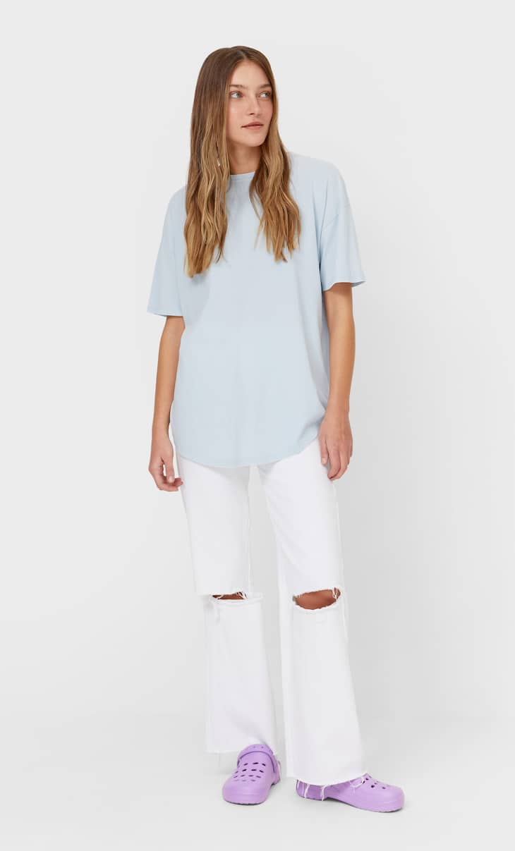 Long basic T-shirt
