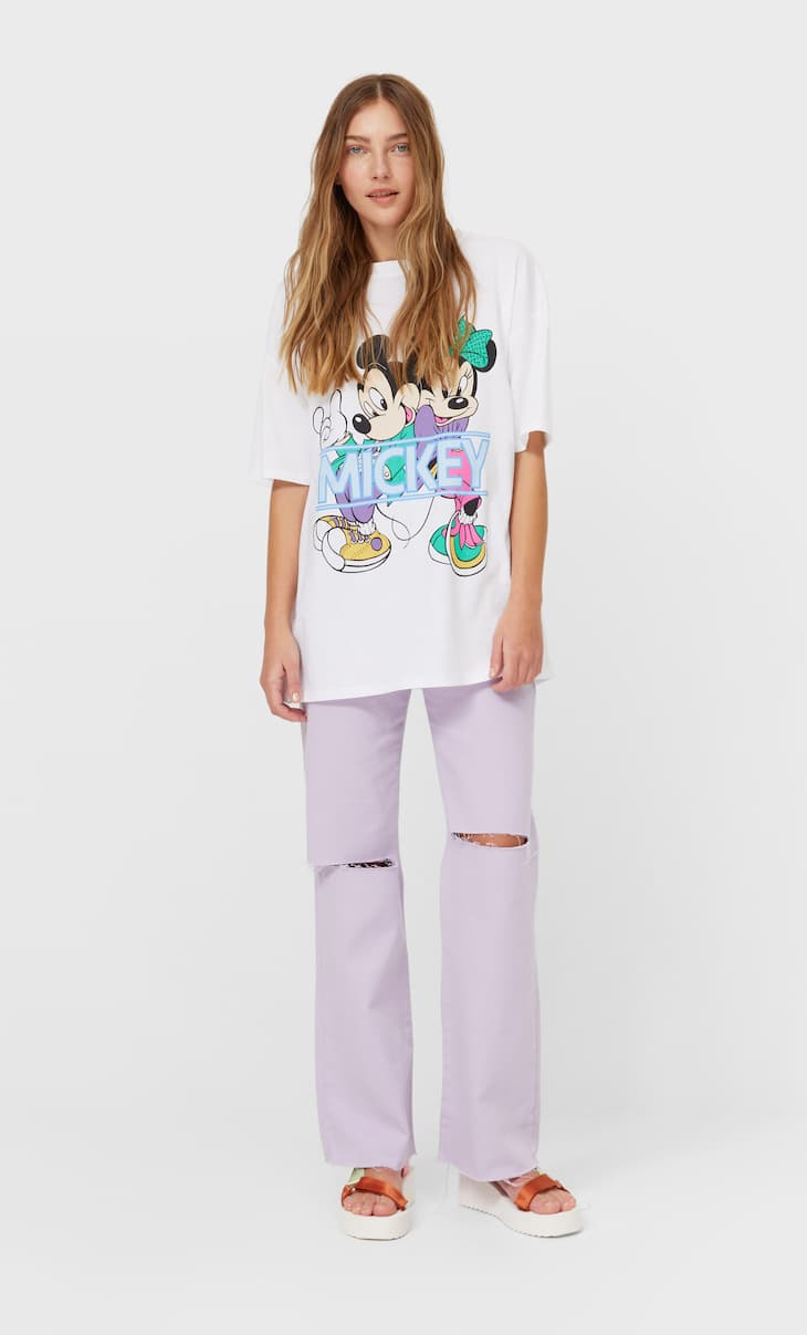 Oversized Minnie and Mickey mouse T-shirt
