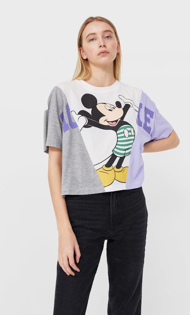 Контрастная футболка «Микки Маус»