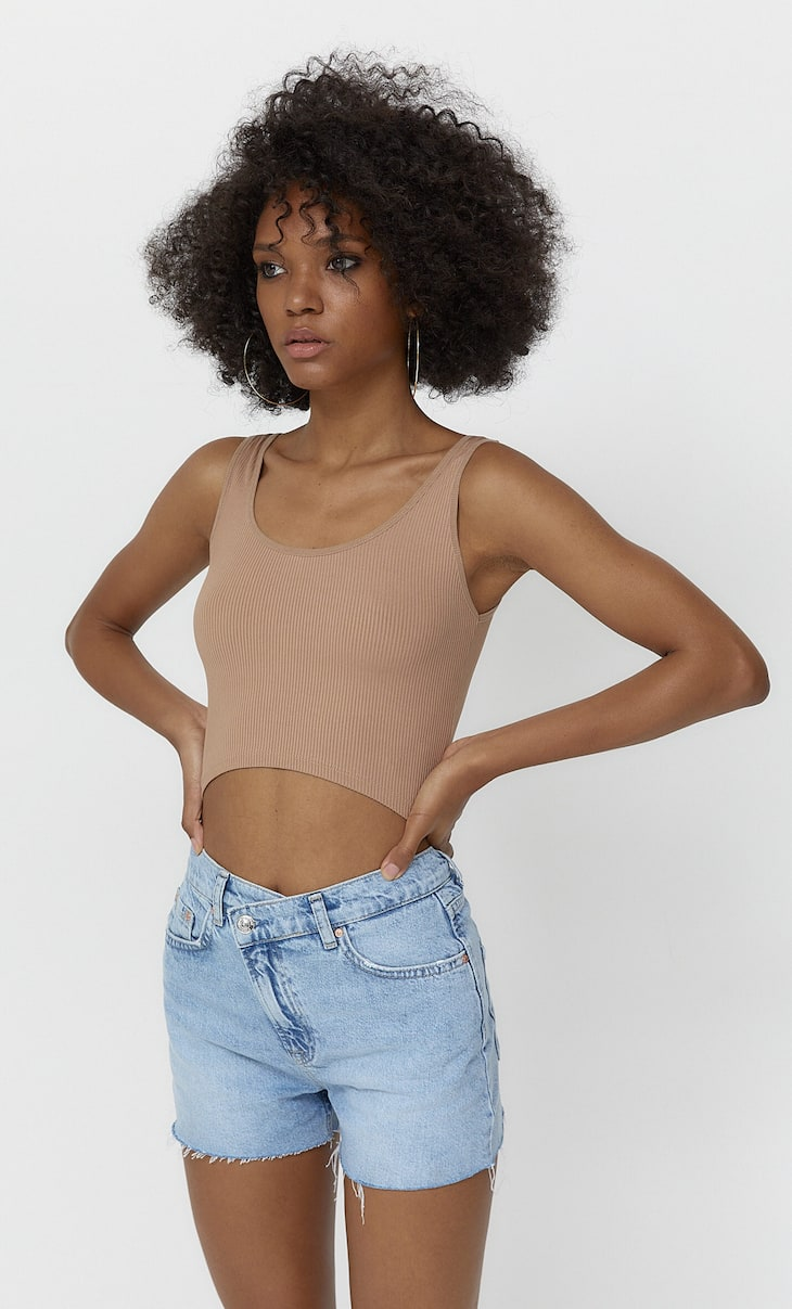 Strappy crop top