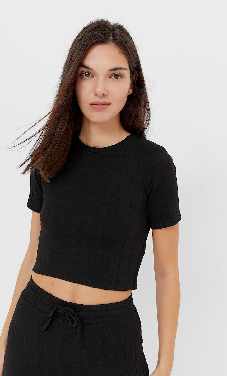 Cropped ribtricot