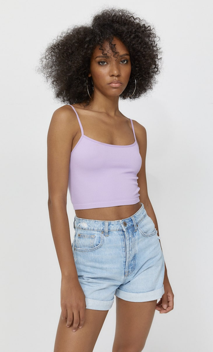 Top de tirants cropped seamless