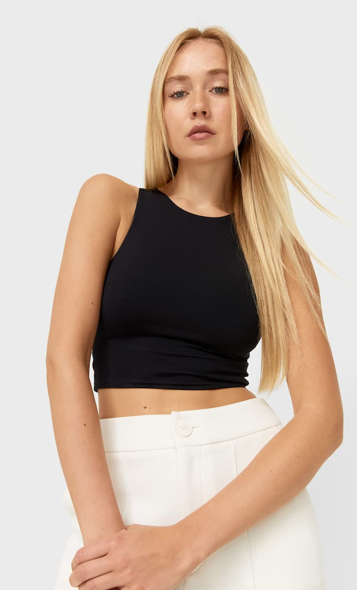 Crop top en polyamide