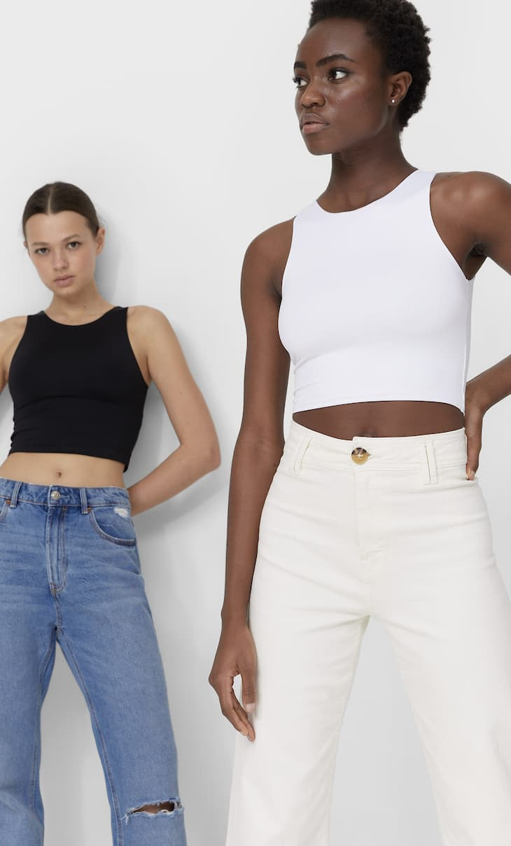 2-pack strappy crop tops