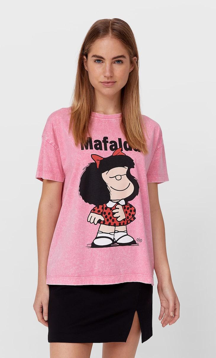Mafalda baskılı t-shirt