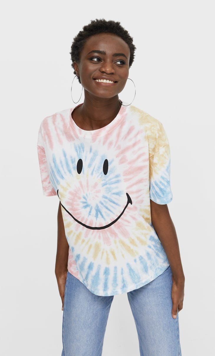 Smiley tie-dye T-shirt