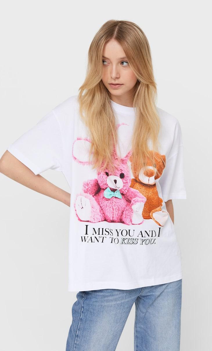 Sevgililer Günü ayıcıklı t-shirt