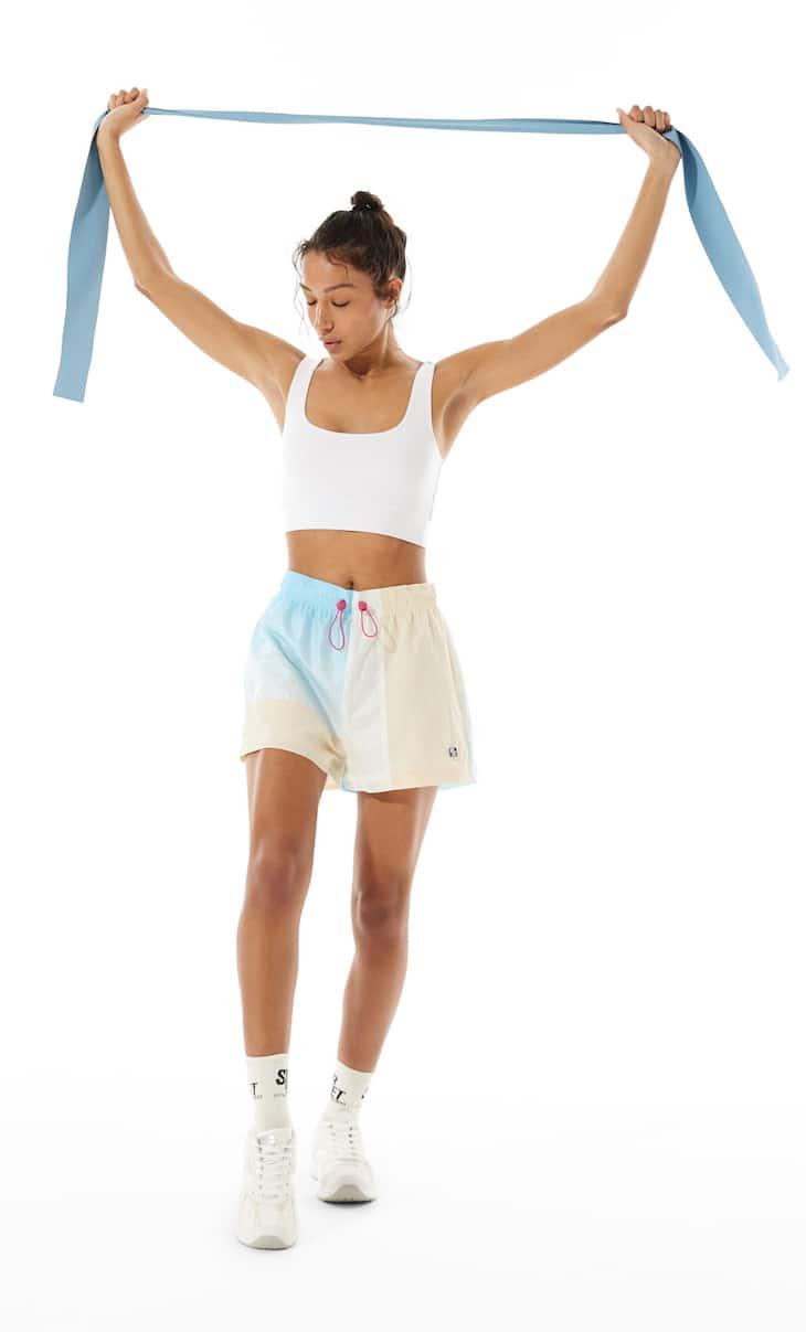 Sports bra with tie-dye