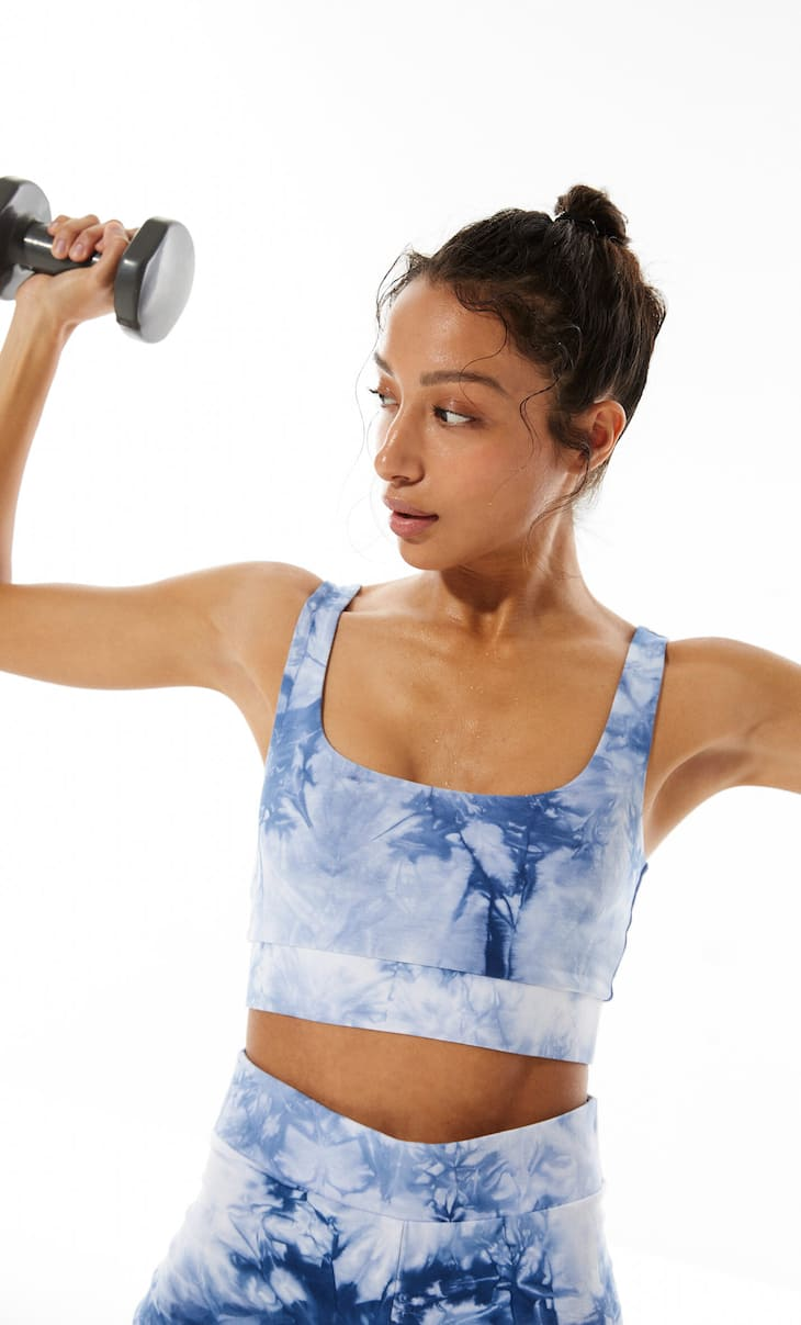 Sports bra with tie-dye