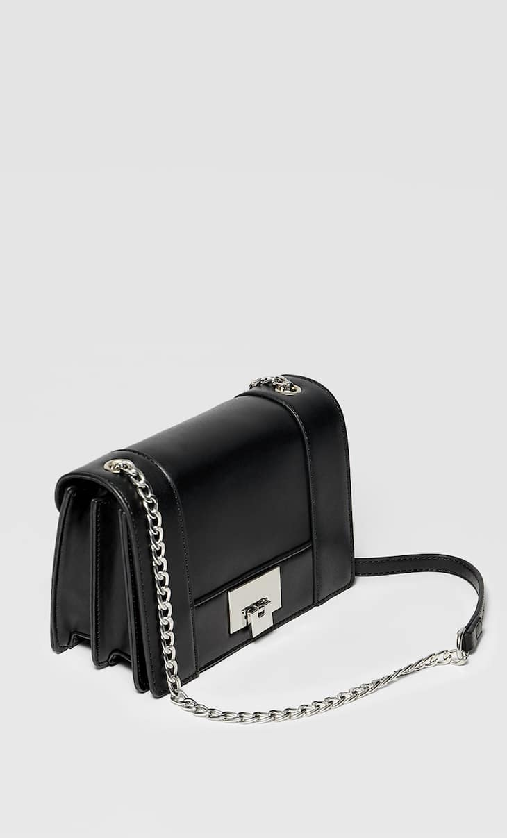 Mini crossbody bag with fastening detail