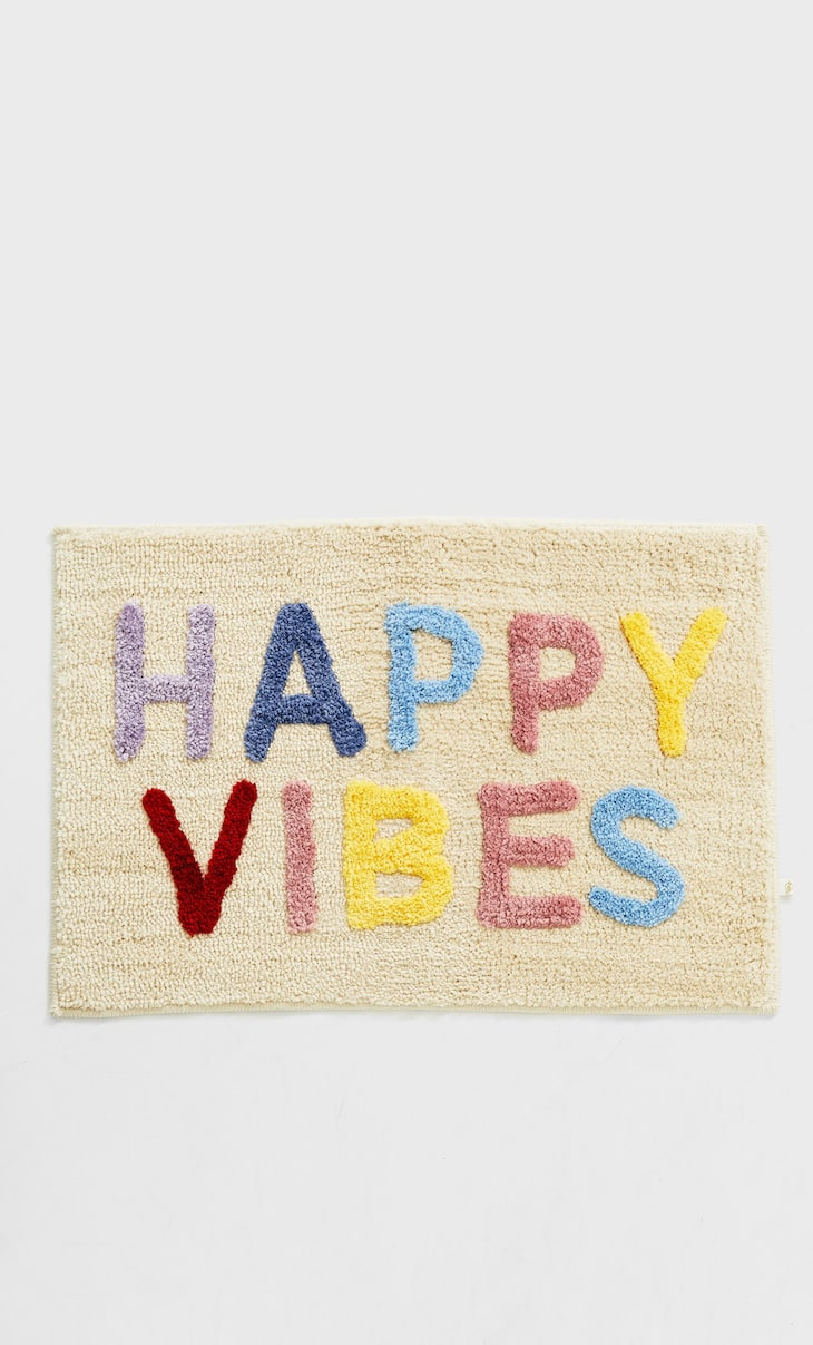 """Happy Vibes"" rug"