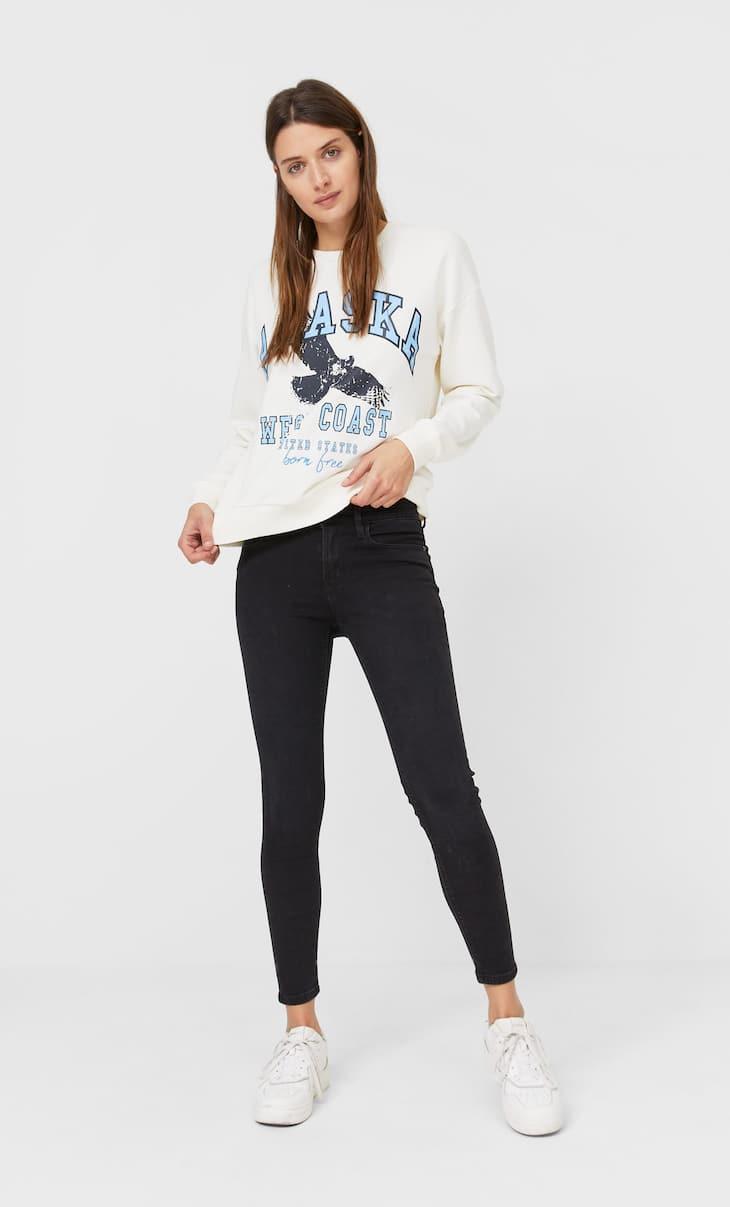 Skinny-Jeans mit tiefem Bund