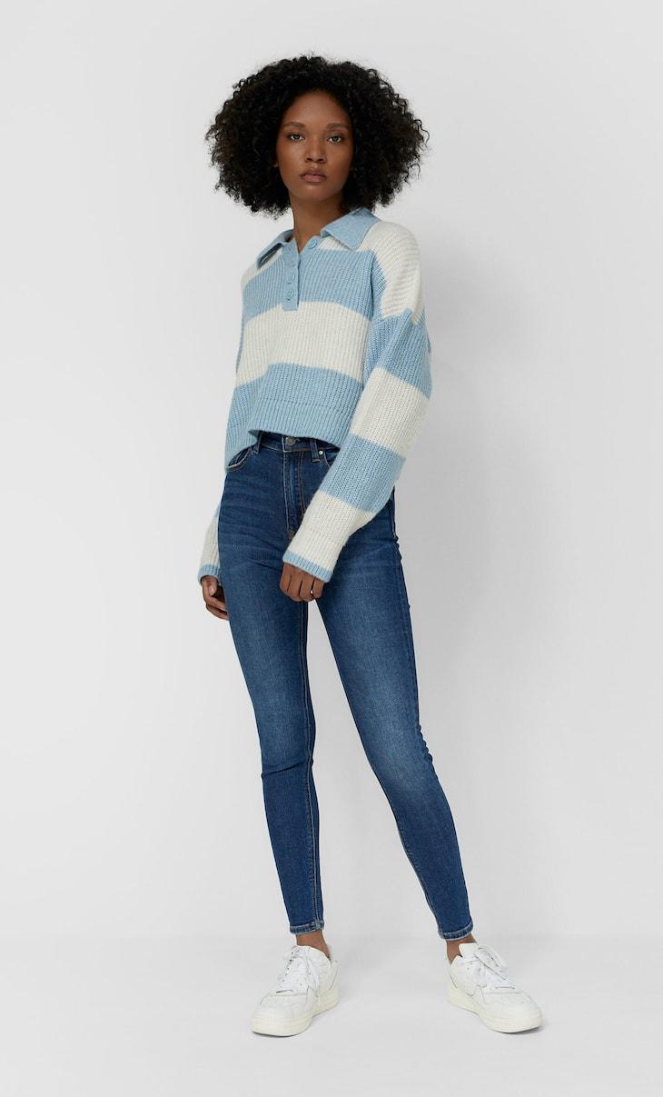 Jeans premium taille très haute