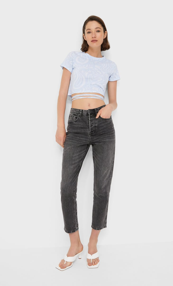 Jeans mom fit