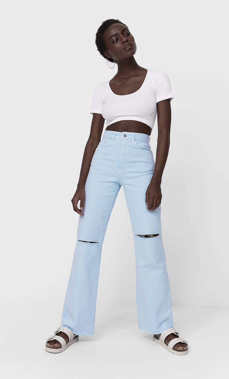 Jeansy o kroju straight fit