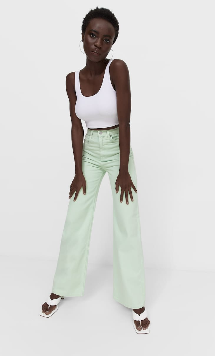 Colour super wide-leg jeans
