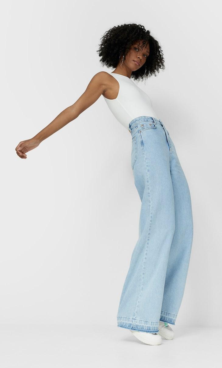 Jeans jambes très larges