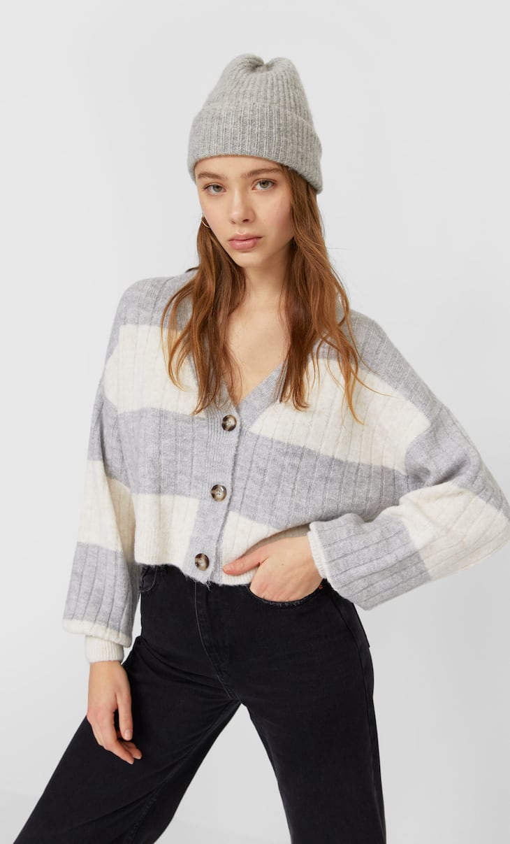 Cardigan in Cropped-Länge
