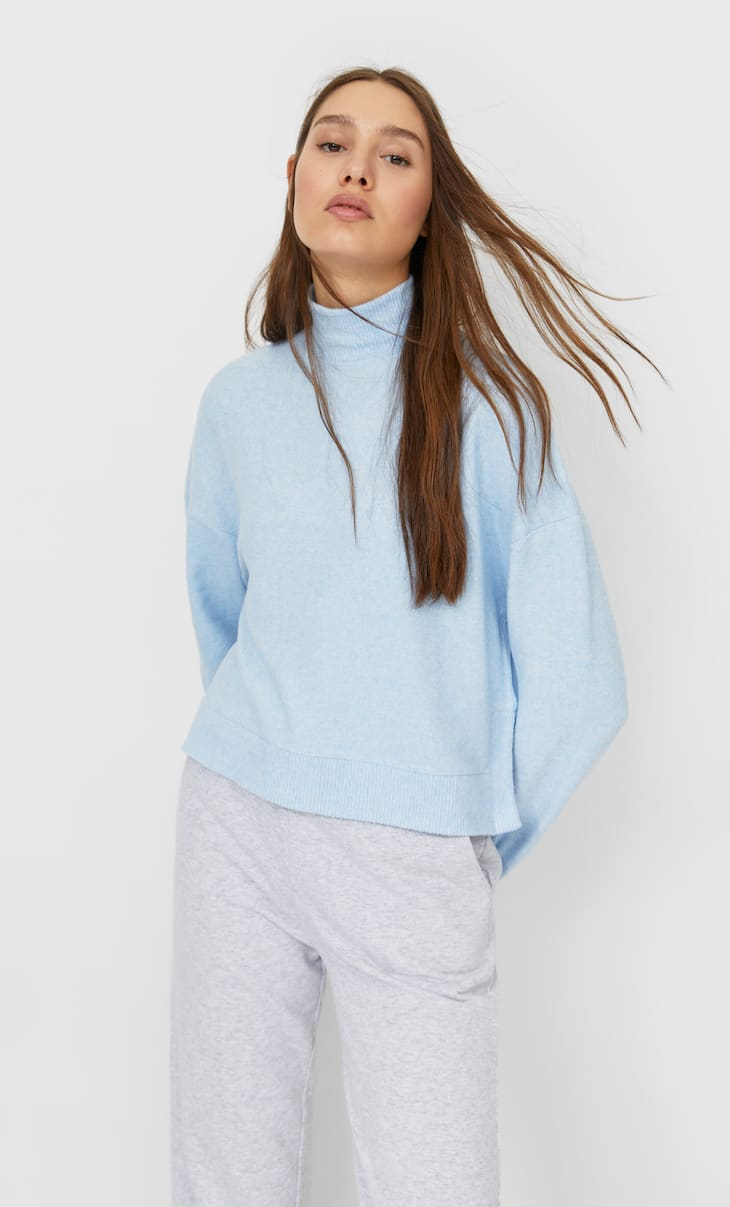 Soft-touch cropped T-shirt