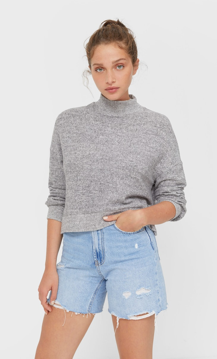 Zacht cropped T-shirt