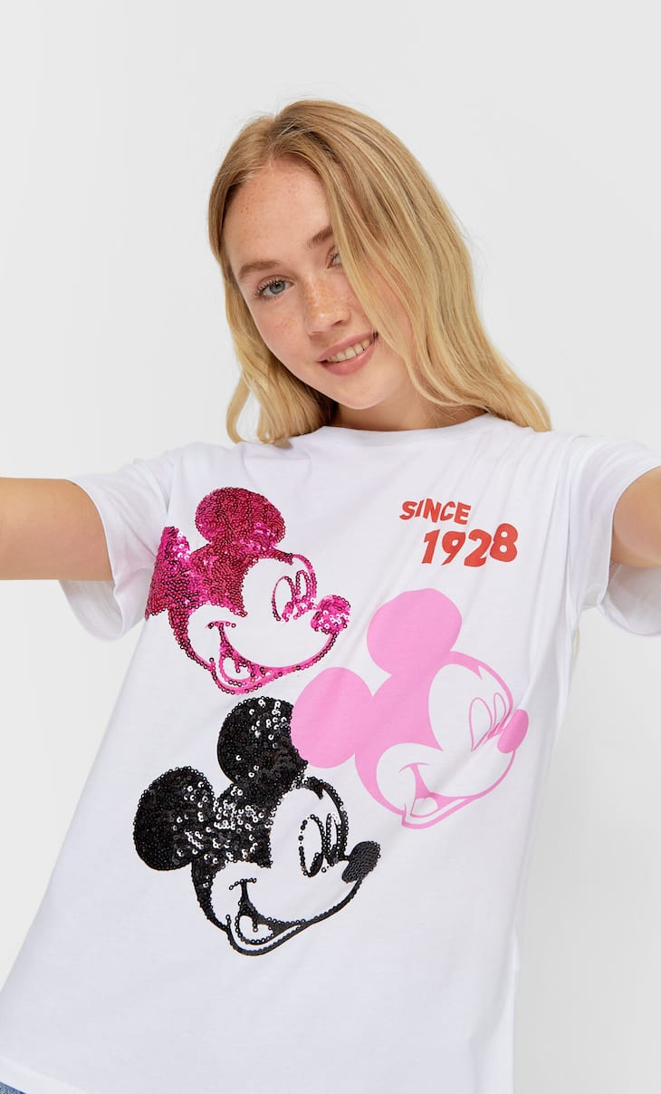 Sequinned Mickey T-shirt