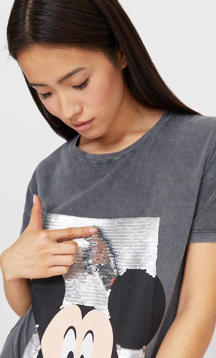 Camiseta Mickey lentejuelas