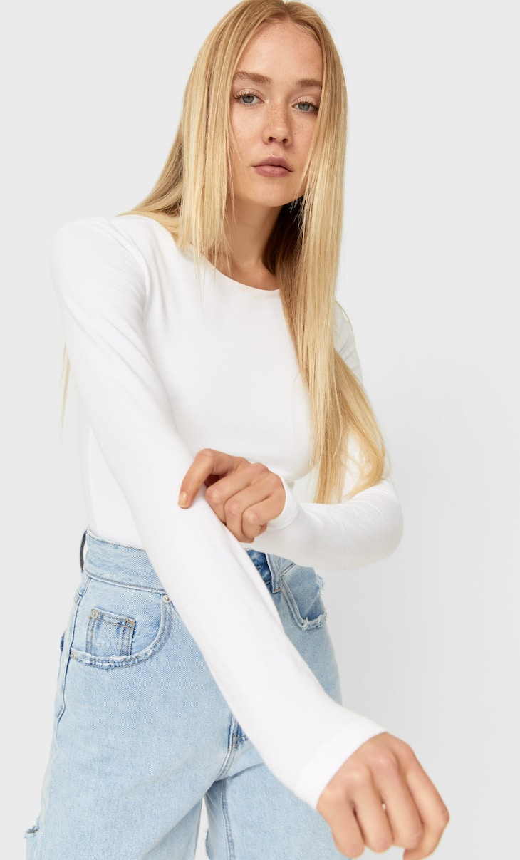 Crop top manches longues