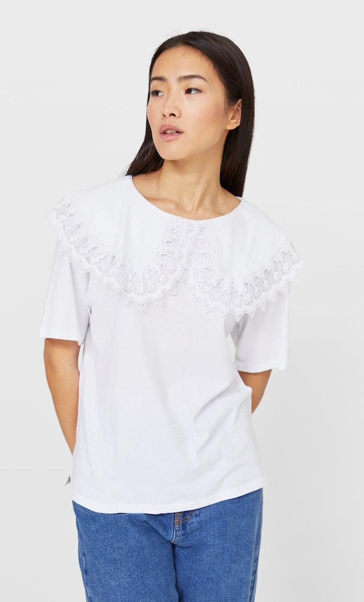 T-shirt gola de bebé