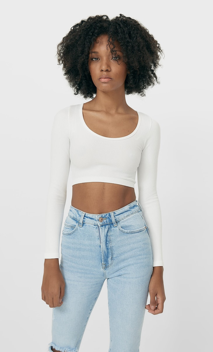 Crop top sans coutures