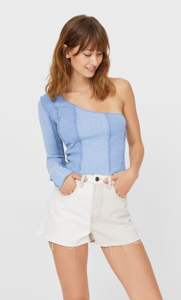 Top asymétrique patchwork