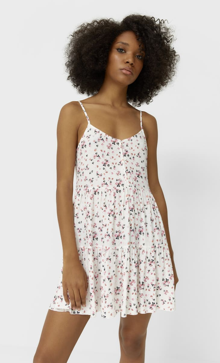 Strappy floral dress