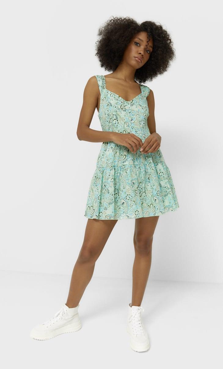 Vestido corset flores