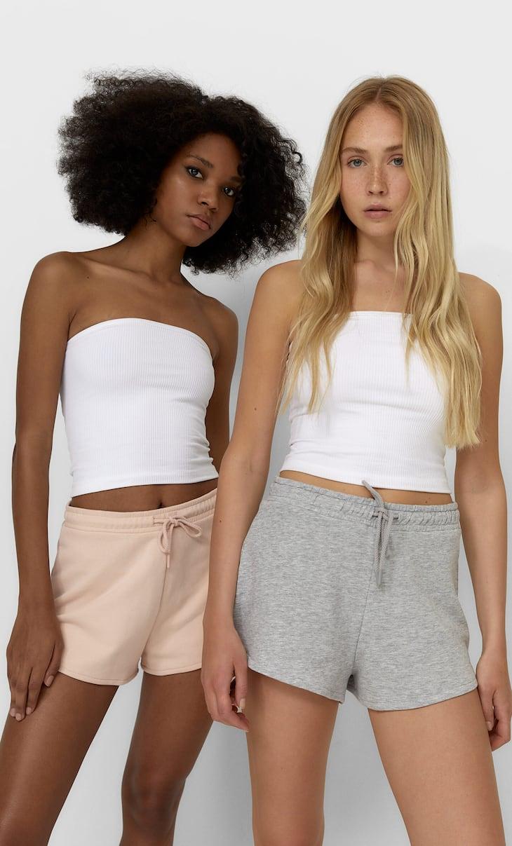 Set of 2 plush shorts