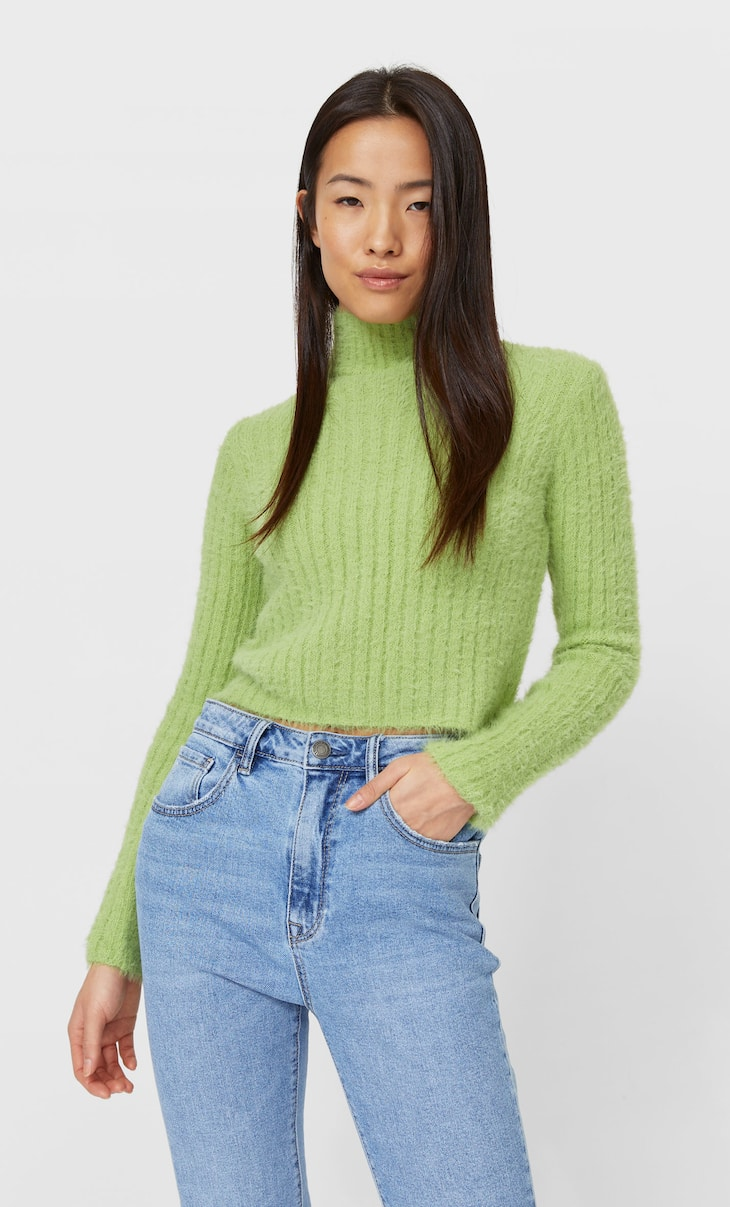 Soft-touch high neck sweater