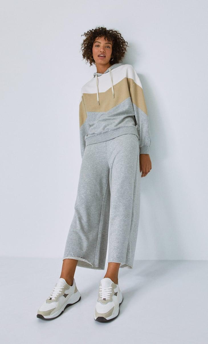 Pantalón culotte felpa