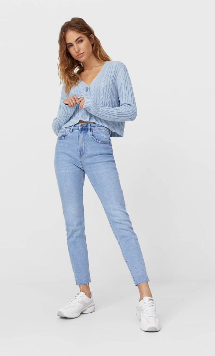 Slim fit high-waist jeans