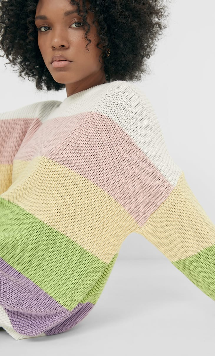 Pull oversize color block