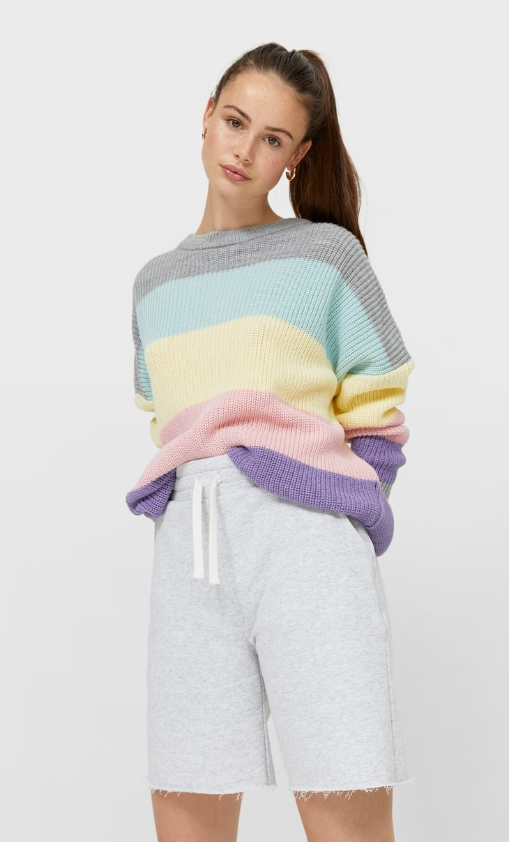 Oversized colour block sweater