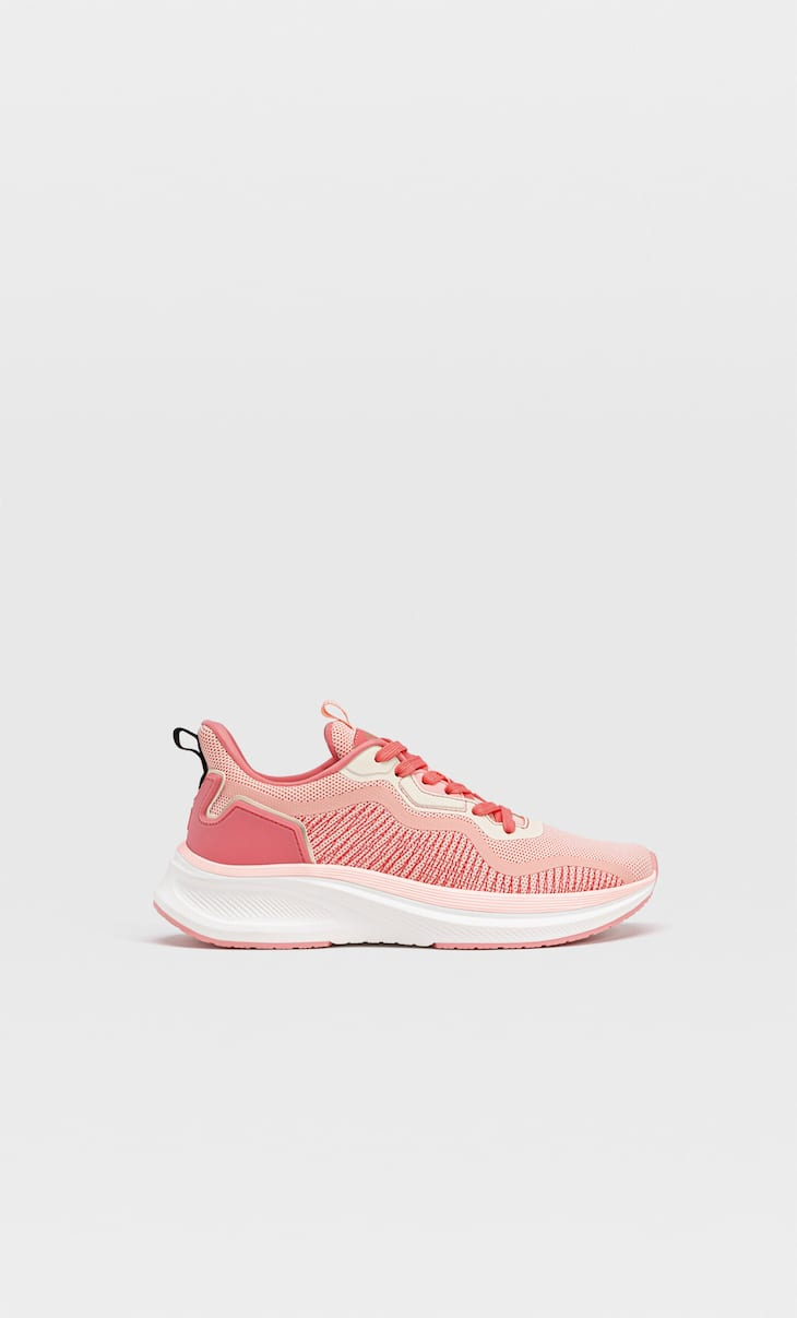 Sock-style trainers with piece details