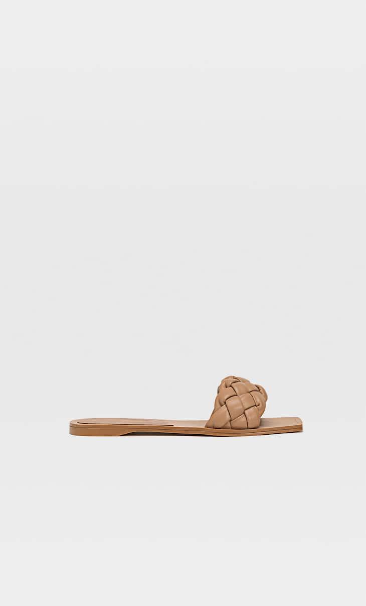 Flat woven sandals
