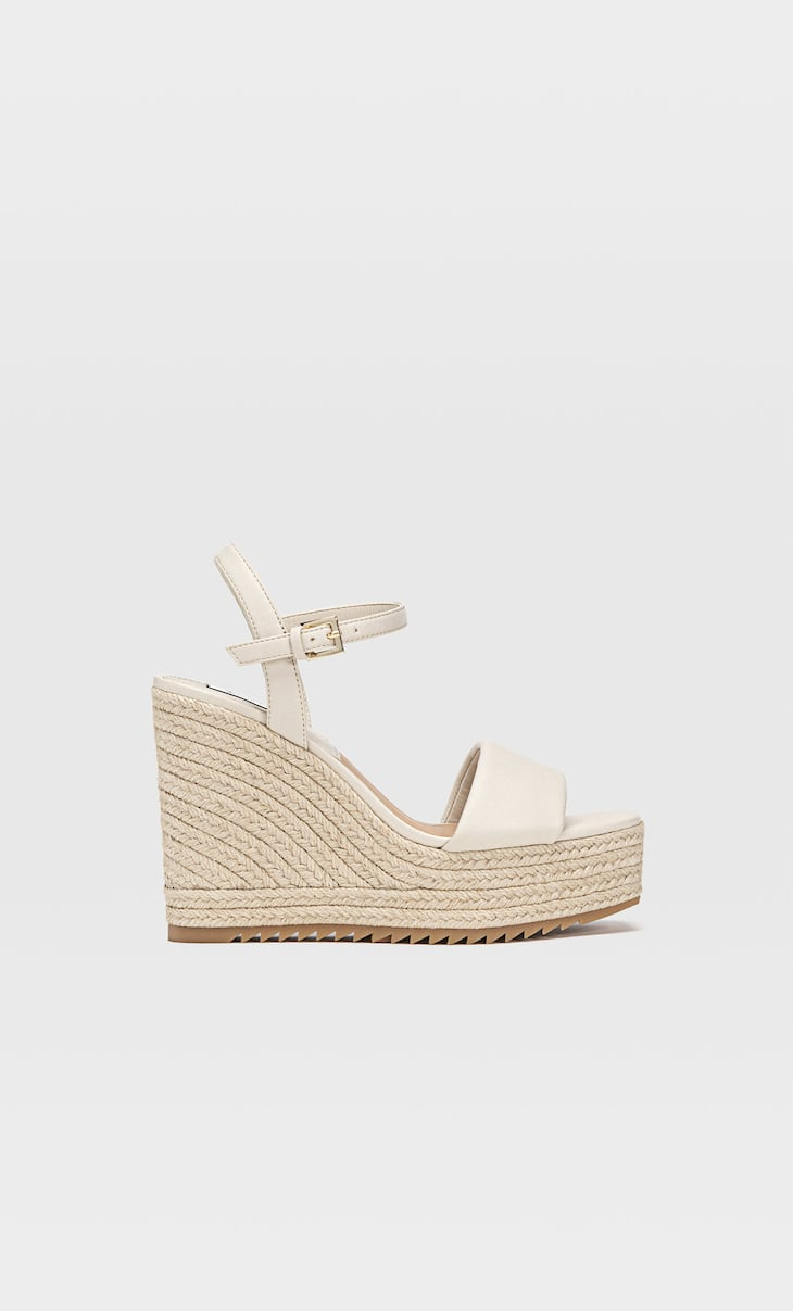 Padded espadrille wedges